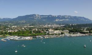 le port d'Aix les Bains et le Revard